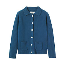 Buy Toast Leila Cardigan, Mid Blue Online at johnlewis.com