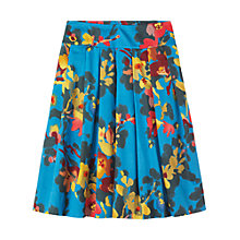 Buy Toast Painted Floral Skirt, True Blue Online at johnlewis.com