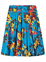 Toast Painted Floral Skirt, True Blue