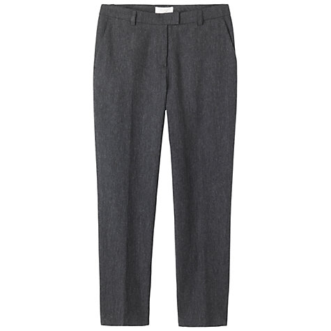 Buy Toast Pinstripe Trousers, Charcoal/Pale Grey Online at johnlewis.com