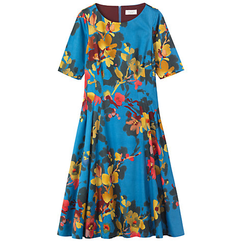 Buy Toast Painted Floral Dress, True Blue Online at johnlewis.com