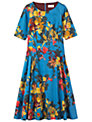 Toast Painted Floral Dress, True Blue