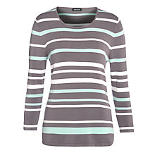 Buy Gerry Weber Stripe Knitted Jumper, Taupe/Mint Online at johnlewis.com