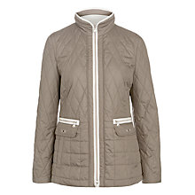 Buy Gerry Weber Diamond Quilt Jacket, Taupe/White Online at johnlewis.com