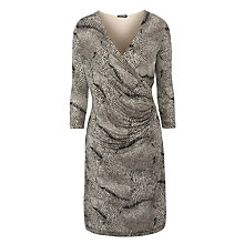 Buy Gerry Weber Slinky Snake Print Dress, Stone Online at johnlewis.com