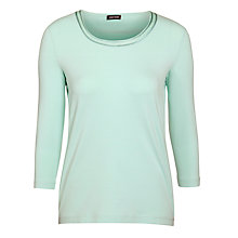 Buy Gerry Weber Sparkle Neck T-Shirt, Mint Online at johnlewis.com