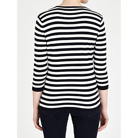Buy Gerry Weber Flower Stripe Jumper, Navy/White Online at johnlewis.com