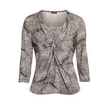 Buy Gerry Weber Twist Animal Print Top, Stone Online at johnlewis.com