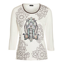 Buy Gerry Weber Print Top, Cream Online at johnlewis.com