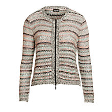 Buy Gerry Weber Zip Knitted Jacket, Multi Online at johnlewis.com