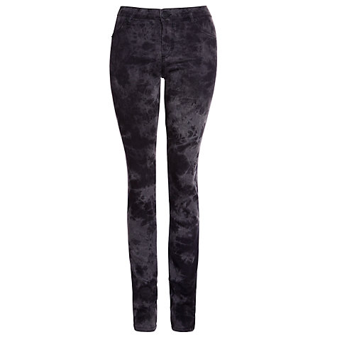 "Buy Five Units Penelope Skinny Batik Jeans 34"", Black Online at johnlewis.com"