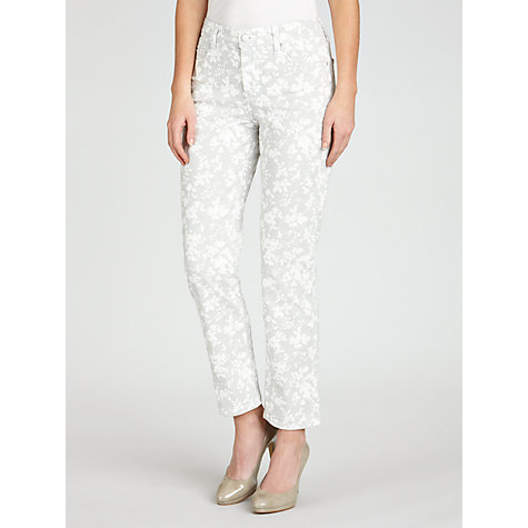 Buy NYDJ Floral Geo Print Skinny Jeans, Off White Online at johnlewis.com
