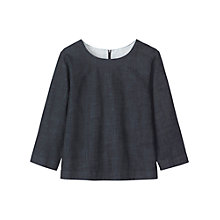 Buy Toast Denim Smock Top, Indigo Online at johnlewis.com