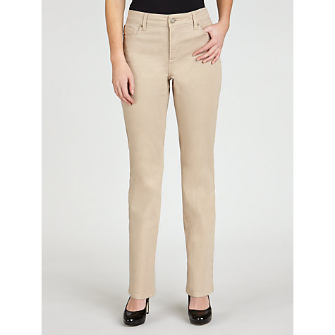 Buy NYDJ Straight Leg Jeans, Almond Online at johnlewis.com
