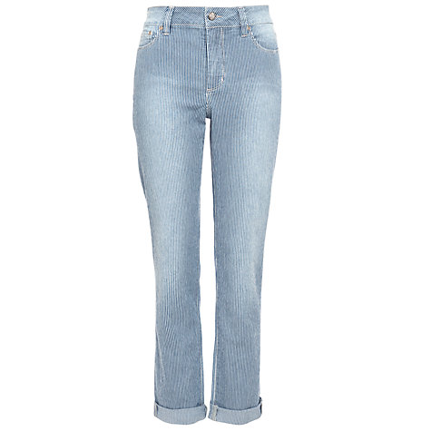 Buy Not Your Daughter's Jeans Ticker Stripe Jeggings, White Blue Online at johnlewis.com