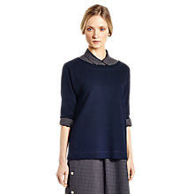 Buy Toast Waffle Slouchy T-Shirt, Navy Online at johnlewis.com