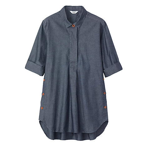 Buy Toast Side Button Shirt, Dark Indigo Online at johnlewis.com