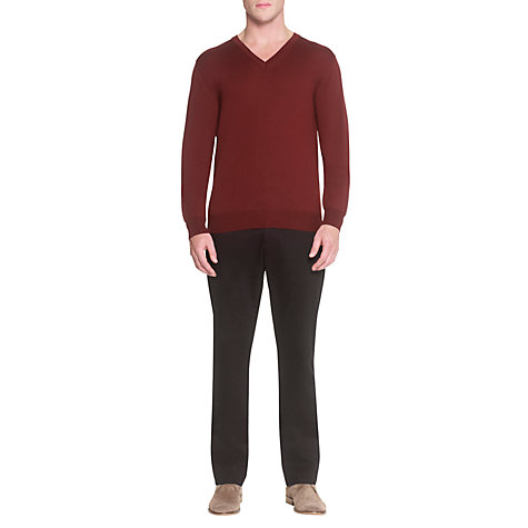 Buy Aquascutum Merino V-Neck Jumper Online at johnlewis.com