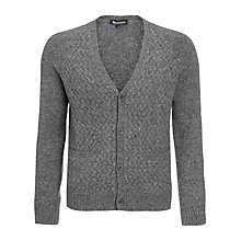 Buy Aquascutum Donegal Lambswool Cardigan, Grey Online at johnlewis.com