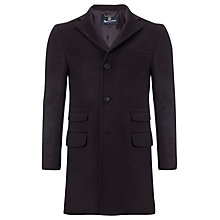 Buy Aquascutum Velvet Collar Sargent 4 Pocket Coat, Blue Online at johnlewis.com