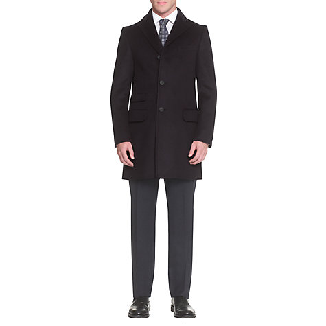 Buy Aquascutum Sargent 4 Pocket Coat, Blue Online at johnlewis.com