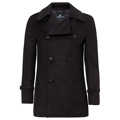 Buy Aquascutum Wool Connolly Peacoat, Blue Online at johnlewis.com