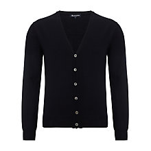 Buy Aquascutum Merino Elbow Patch Cardigan, Navy Online at johnlewis.com