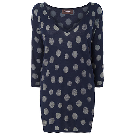 Buy Phase Eight Scarlett Spot Tunic, Navy/Grey Online at johnlewis.com