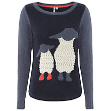Buy White Stuff Cotswold Sheep Jumper, Atlantic Blue Online at johnlewis.com