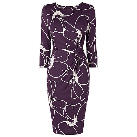 Buy Phase Eight Molly Print Dress, Damson Online at johnlewis.com