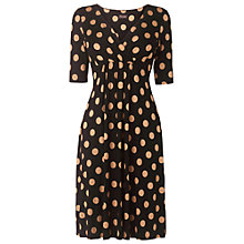 Buy Phase Eight Polka Dot Dress, Black/Camel Online at johnlewis.com