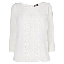 Buy Phase Eight Juliet Pleated Blouse, Cream Online at johnlewis.com