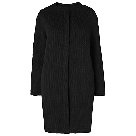 Buy Phase Eight Made In Italy Cerys Cocoon Coat, Black Online at johnlewis.com