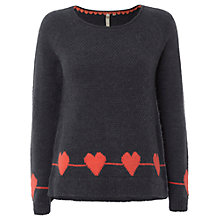 Buy White Stuff Country Heart Jumper, Dark Atlantic Blue Online at johnlewis.com