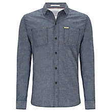 Buy Replay Chest Pockets Long Sleeve Shirt, Indigo Online at johnlewis.com