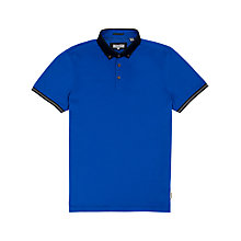 Buy Ted Baker Jefrton Contrast Collar Polo Shirt, Blue Online at johnlewis.com