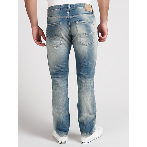 Buy Replay Waitom Slim Tapered Fit Jeans, Laserblast Online at johnlewis.com