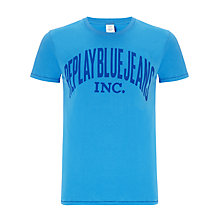 Buy Replay Logo Print Short Sleeve T-Shirt Online at johnlewis.com