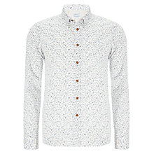 Buy Replay Micro Floral Print Shirt, Ecru Online at johnlewis.com