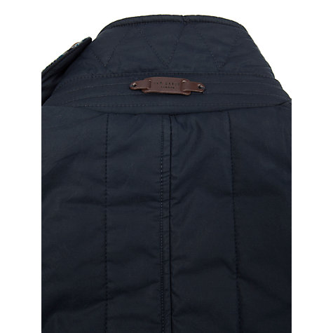 Buy Ted Baker Kereed Vertical Quilted Jacket, Navy Online at johnlewis.com