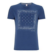 Buy Replay Paisley Print T-Shirt, Indigo Online at johnlewis.com