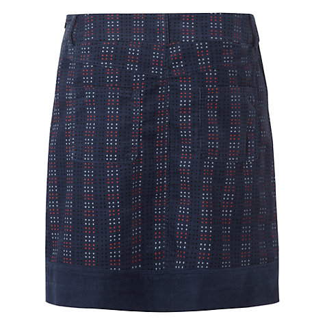 Buy White Stuff Cairn Spot Skirt, Atlantic Blue Online at johnlewis.com