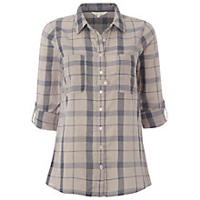 Buy White Stuff Madson Check Shirt, Limestone Online at johnlewis.com