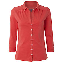 Buy White Stuff Long Sleeve Garden Power Shirt, Dark Hot Coral Online at johnlewis.com