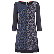 Buy White Stuff Mellona Patchwork Tunic, Dark Atlantic Blue Online at johnlewis.com