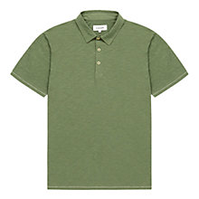 Buy Jigsaw Garment Dye Short Sleeve Polo Shirt Online at johnlewis.com