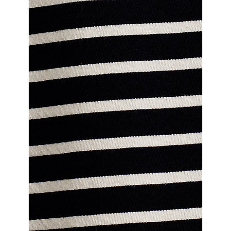Buy Jigsaw Reverse Stripe Pocket T-Shirt, Navy Online at johnlewis.com
