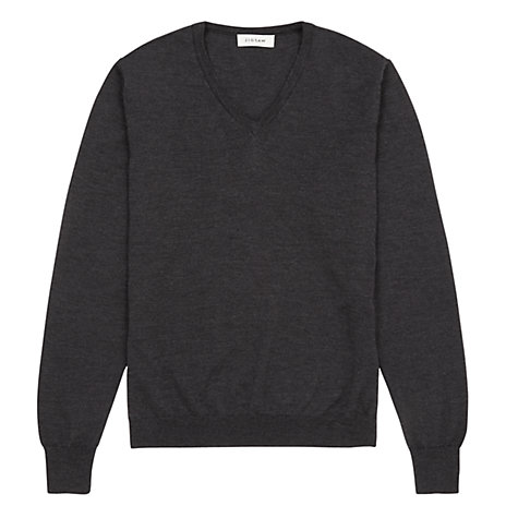 Buy Jigsaw Merino Wool V-Neck Jumper Online at johnlewis.com