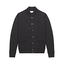 Buy Jigsaw Merino Wool Knit Bomber Cardigan Online at johnlewis.com