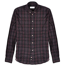 Buy Jigsaw Slim Fit Tartan Shirt, Squirrel Online at johnlewis.com